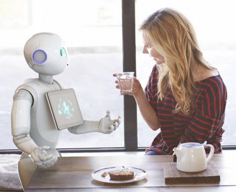 robot explaining how to make tea