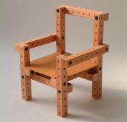 grid beam chair